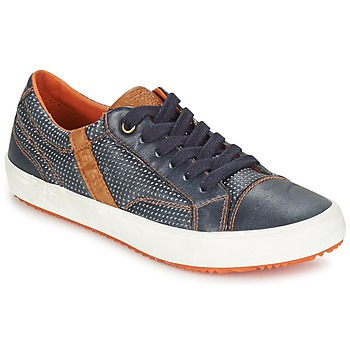 Sko Dreng Lave sneakers Geox J ALONISSO B. A Marineblå / Brun