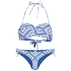 textil Dame Bikini Rip Curl DEL SOL BANDEAU SET Blå / Hvid