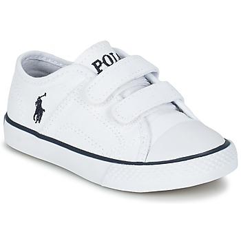Sko Børn Lave sneakers Ralph Lauren DYLAND EZ Hvid
