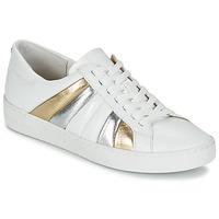Sko Dame Lave sneakers MICHAEL Michael Kors CONRAD SNEAKER Hvid / Guld / Sølv