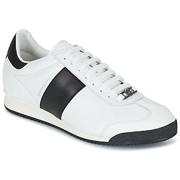 Sko Herre Lave sneakers Roberto Cavalli 2042C Hvid / Sort