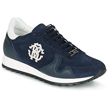 Sko Herre Lave sneakers Roberto Cavalli 2058A Marineblå