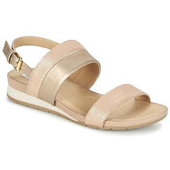 Sko Dame Sandaler Geox D FORMOSA C Pink / Guld