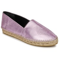 Sko Dame Espadriller Kenzo TIGER METALIC SYNTHETIC LEATHER Pink