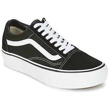 Sko Dame Lave sneakers Vans UA OLD SKOOL PLATFOR Sort / Hvid