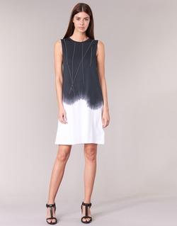 textil Dame Korte kjoler Replay WOOPINA Sort / Hvid
