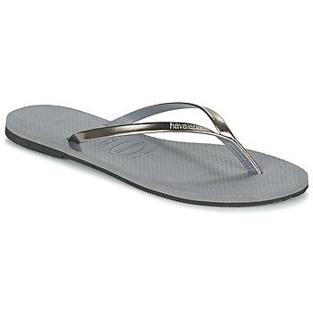 Sko Dame Flip flops Havaianas YOU METALLIC Grå