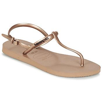 Sko Dame Sandaler Havaianas FREEDOM Pink / Guld