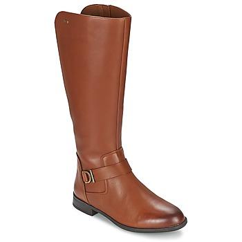 Sko Dame Chikke støvler Clarks MINT TREAT GTX Brun