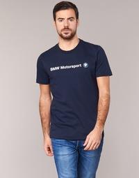 textil Herre T-shirts m. korte ærmer Puma BMW MSP LOGO TEE Marineblå