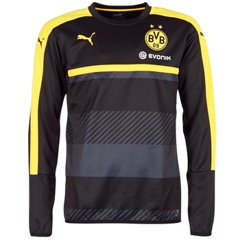 textil Herre Sweatshirts Puma BVB TRAINING SWEAT Sort / Gul