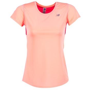 textil Dame T-shirts m. korte ærmer New Balance ACCELERATE T KORAL