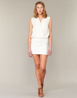 textil Dame Korte kjoler Le Temps des Cerises SHERY Hvid