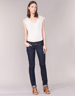 textil Dame Lige jeans Le Temps des Cerises 220 Blå