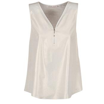 textil Dame Toppe / Bluser Les P'tites Bombes LOUVALE Hvid / Guld