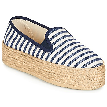 Sko Dame Espadriller Betty London GROMY Marineblå / Hvid