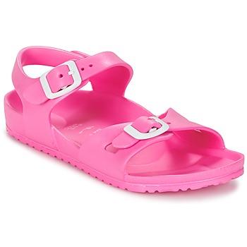 Sko Børn Sandaler Birkenstock RIO EVA Pink / Fluo