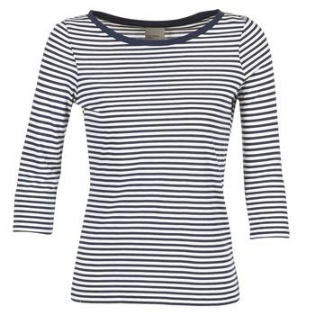 textil Dame Langærmede T-shirts Vero Moda MARLEY Marineblå / Hvid
