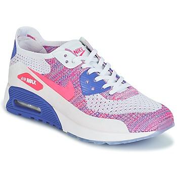 Sko Dame Lave sneakers Nike AIR MAX 90 FLYKNIT ULTRA 2.0 W Hvid / Blå / Pink