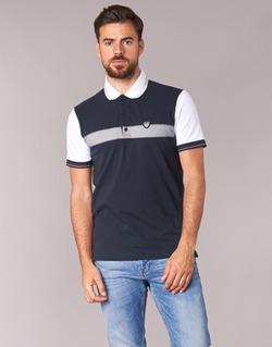 textil Herre Polo-t-shirts m. korte ærmer Emporio Armani EA7 TENNIS CLASSIC Marineblå / Hvid