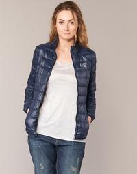 textil Dame Dynejakker Emporio Armani EA7 TRAIN CORE Marineblå