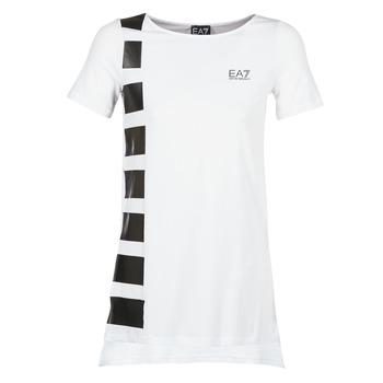 textil Dame Tunikaer Emporio Armani EA7 TRAIN MASTER Hvid / Sort