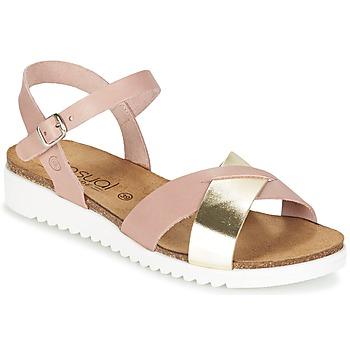 Sko Dame Sandaler Casual Attitude GIFA Pink / Gylden