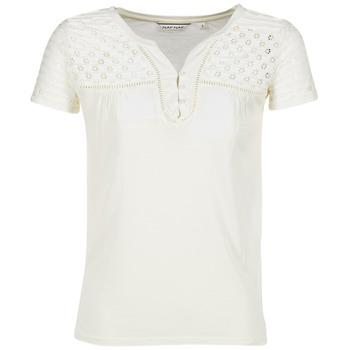 textil Dame T-shirts m. korte ærmer Naf Naf OPARI BEIGE