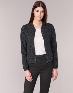 textil Dame Jakker Only NOVA LACE Sort / Hvid