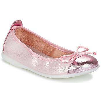 Sko Pige Ballerinaer Citrouille et Compagnie GRAGON Pink / Pailleter