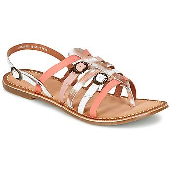 Sko Dame Sandaler Kickers DIXMILLE Sølv / Pink / Hvid