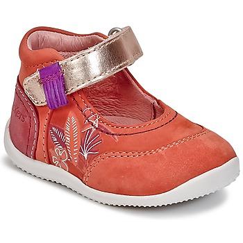 Sko Pige Ballerinaer Kickers BIMAMBO Orange /  fuchsia / Pink