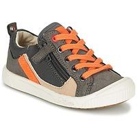 Sko Dreng Lave sneakers Kickers ZIGZAGUER Grå / Orange