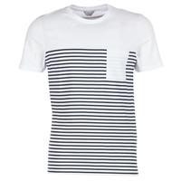 textil Herre T-shirts m. korte ærmer Jack & Jones APRIL CORE Hvid / Marineblå