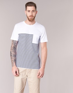 textil Herre T-shirts m. korte ærmer Jack & Jones APRIL CORE Hvid / Marineblå