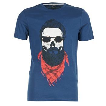 textil Herre T-shirts m. korte ærmer Jack & Jones TRICK ORIGINALS Marineblå