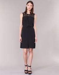 textil Dame Korte kjoler Cream DONA Sort