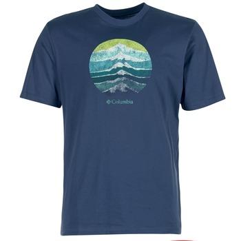 textil Herre T-shirts m. korte ærmer Columbia CSC MOUNTAIN SUNSET Blå
