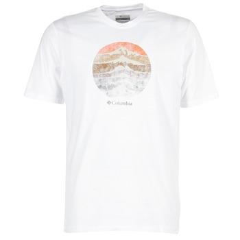 textil Herre T-shirts m. korte ærmer Columbia CSC MOUNTAIN SUNSET Hvid