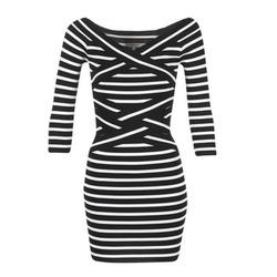 textil Dame Korte kjoler Morgan RBEST Sort / BEIGE