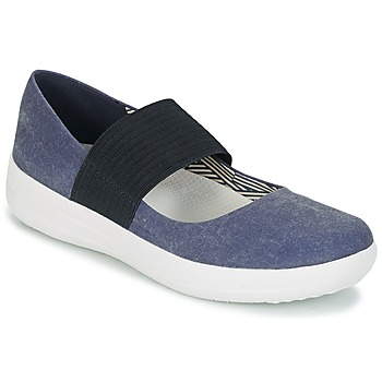 Sko Dame Ballerinaer FitFlop FSPORTY MARY JANE CANVAS Midnat / Navy