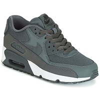 Sko Dreng Lave sneakers Nike AIR MAX 90 MESH GRADE SCHOOL Grå