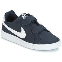 Sko Dreng Lave sneakers Nike COURT ROYALE PRESCHOOL Blå / Hvid