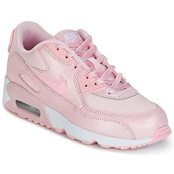 Sko Pige Lave sneakers Nike AIR MAX 90 MESH SE PRESCHOOL Pink