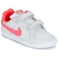 Sko Pige Lave sneakers Nike COURT ROYALE TODDLER Grå / Pink