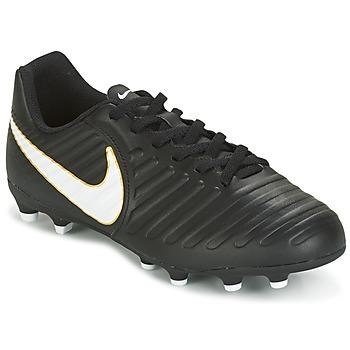 Sko Børn Fodboldstøvler Nike TIEMPO RIO IV FG JUNIOR Sort / Hvid