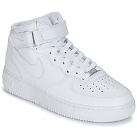 Sko Herre Høje sneakers Nike AIR FORCE 1 MID 07 LEATHER Hvid
