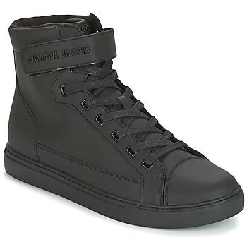 Sko Herre Høje sneakers Armani jeans JEFEM Sort