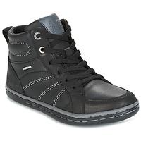 Sko Dreng Høje sneakers Geox J GARCIA B. B Sort / Grå
