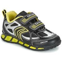 Sko Dreng Lave sneakers Geox J SHUTTLE B. A Sort / Gul